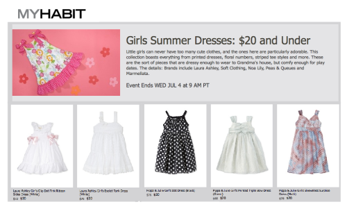 MyHabit is having an awesome sale through July 4th featuring girl's sundresses under $20!   Get some amazing Laura Ashley, Pippa & Julia, and Marmellata favorites here!!!