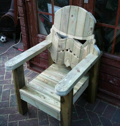 laughingsquid:  Stormtrooper Wooden Lawn Chair