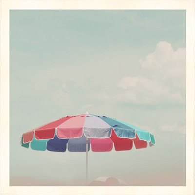 anthropologie:  Summer is colorful beach umbrellas. Via: Absolutely Beautiful Things