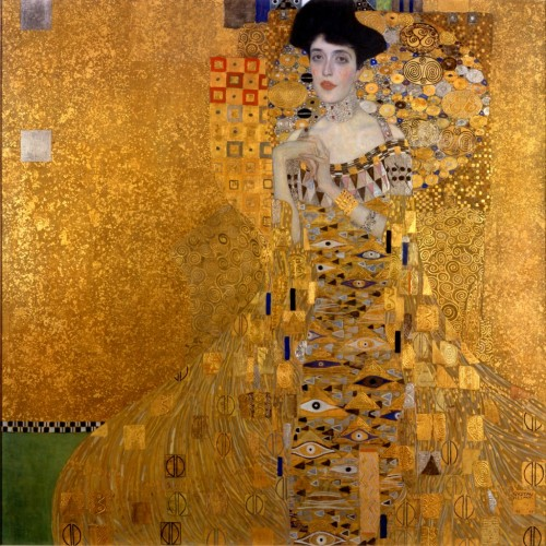 Portrait of Adele Bloch-Bauer I by Gustav Klimt.