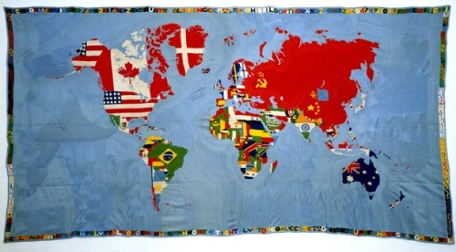 artlog:  Alighiero Boetti, Mappa (Map), 1971-72. Courtesy of the Museum of Modern Art.
