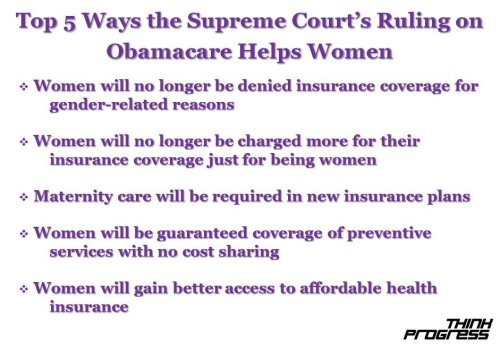 think-progress:  Obamacare is a victory for women.