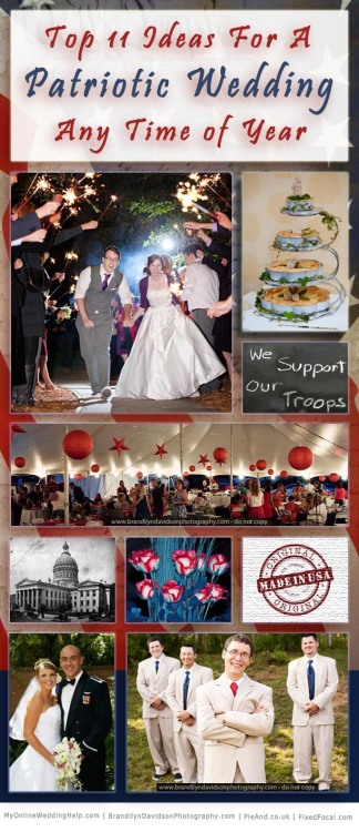 Top 11 Ways to Have a Patriotic Wedding Any Time of the Year
