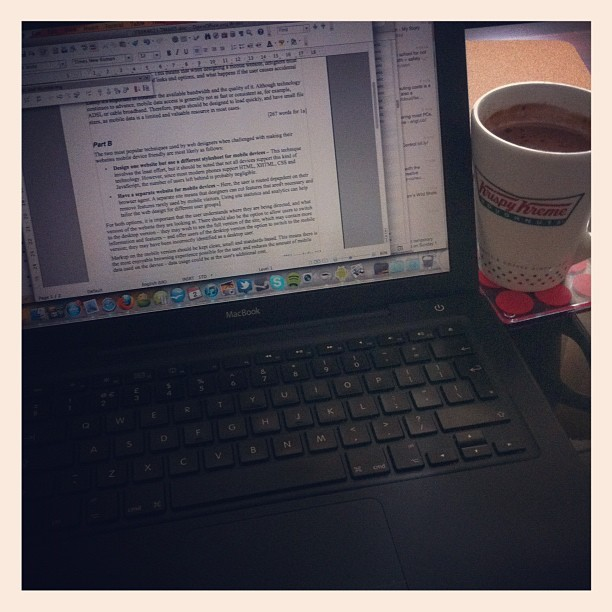 Studying on a rainy day. #openuniversity #ou #macbook (Taken with Instagram)