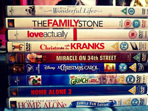 Just a few from my Christmas Collection that I'll be watching this year :-)