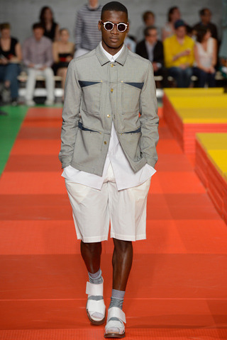 kenzo menswear spring 2013: favorite looks Humberto Leon and Carol Lim ,the new king and queen cool of reign at kenzo. The former open ceremony designers is taking kenzo back to its roots. Jungle was a word used by the designers. The  original Kenzo Jungle Jap store was the inspiration. The designers used going back to wild to describe the collection. Simply amazing i loved every piece.