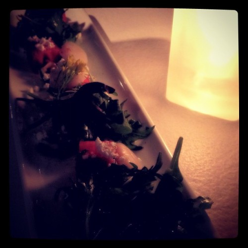 Scallop salad with yuzu sauce #food #dinner #japanese #sushi (Taken with Instagram)
