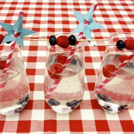 Your 4th of July drink should dazzle just as much as the fireworks! Get the recipe for this patriotic cocktail here.