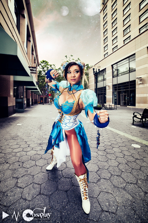 Come at me Bro by *yayacosplay CharacterL: Art Nouveau Chun Li cosplay (designed by razvan-sedekiah), Costume made and modeled by mePhoto by Darkain Multimedia