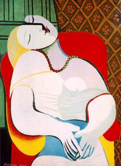 "igetitart:  Picasso, Le Reve, 1931 Nora Ephron, writer, film-maker and humorist, passed away last week. This deliciously witty excerpt comes from her 2006 Vegas vacation, where she details Steve Wynn's ill-fated encounter with this Picasso. I'll bet this happened on a Monday.  The next day, after an excellent lunch at Chinois in the Forum Mall, which is the eighth wonder of the world, we all trooped back to our hotel to see the painting. We went into Wynn's office, which is just off the casino, past a waiting area with a group of fantastic Warhols, past a secretary's desk with a Matisse over it (a Matisse over a secretary's desk!) (and by the way a Renoir over another secretary's desk!) and into Wynn's office. There, on the wall, were two large Picassos, one of them Le Reve. Steve Wynn launched into a long story about the painting — he told us that it was a painting of Picasso's mistress, Marie-Therese Walter, that it was extremely erotic, and that if you looked at it carefully (which I did, for the first time, although I'd seen it before at the Bellagio) you could see that the head of Marie-Therese was divided in two sections and that one of them was a penis. This was not a good moment for me vis a vis the painting. In fact, I would have to say that it made me pretty much think I wouldn't pay five dollars for it. Wynn went on to tell us about the provenance of the painting – who'd first bought it and who'd then bought it. This brought us to the famous Victor and Sally Ganz, a New York couple who are a sort of ongoing caution to the sorts of people who currently populate the art world, because the Ganzes managed to accumulate a spectacular art collection in a small New York apartment with no money at all. The Ganz collection went up for auction in 1997, Wynn was saying — he was standing in front of the painting at this point, facing us. He raised his hand to show us something about the painting — and at that moment, his elbow crashed backwards right through the canvas. There was a terrible noise. Wynn stepped away from the painting, and there, smack in the middle of Marie-Therese Walter's plump and allegedly-erotic forearm, was a black hole the size of a silver dollar – or, to be more exactly, the size of the tip of Steve Wynn's elbow — with two three-inch long rips coming off it in either direction. Steve Wynn has retinitis pigmentosa, an eye disease that damages peripheral vision, but he could see quite clearly what had happened. ""Oh shit,"" he said. ""Look what I've done."" The rest of us were speechless. ""Thank God it was me,"" he said. For sure. Nora Ephron (1941-2012)  It was a $139 million dollar mistake. Read the full story here http://www.huffingtonpost.com/nora-ephron/my-weekend-in-vegas_b_31800.html"