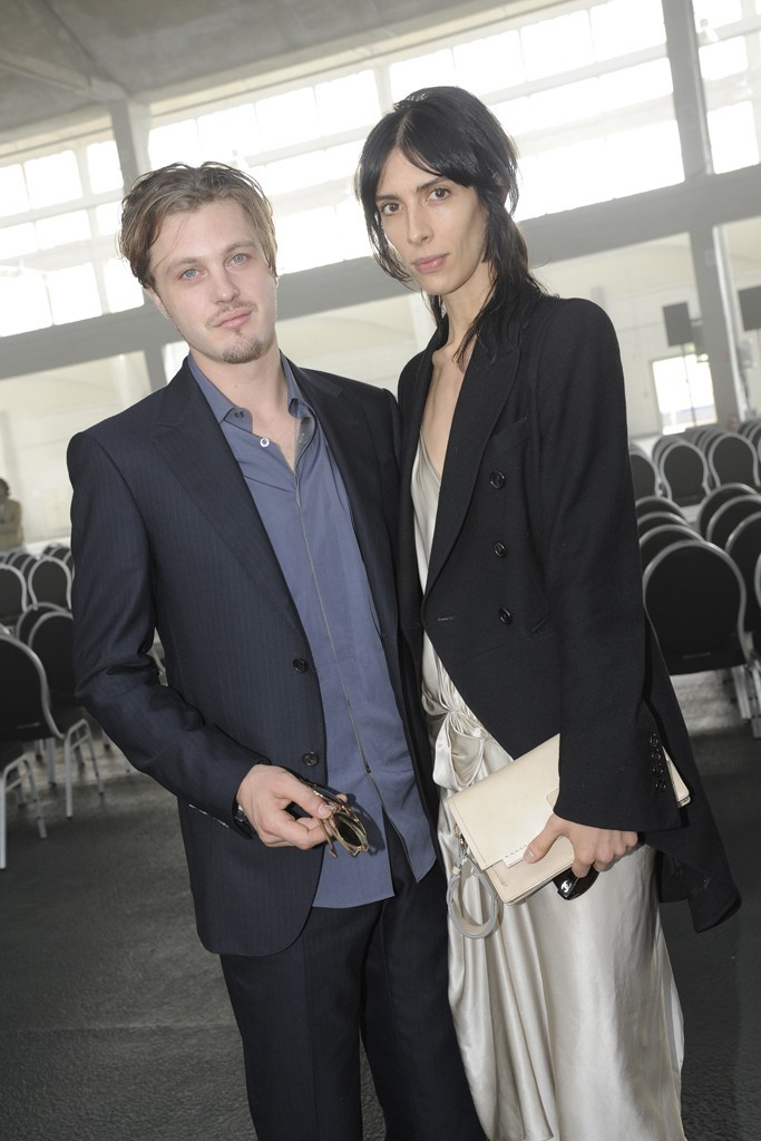 Michael Pitt and Jamie Bochert at Lanvin,