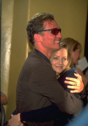 Magic Matthew McConaughey and Jodie Foster hugging and mugging at the 1997 premiere of Contact. The important thing here is how lame his sunglasses are.