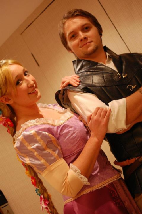 Characters: Rapunzel and Flynn from Tangled Cosplayers: chimocho and Reiss Costumes made by: chimocho Photo by: CrystalCharmer Event: Kitacon 4