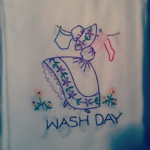 One for each day my grandma stays in the hospital #towels #grandma #embroidery  (Taken with Instagram)