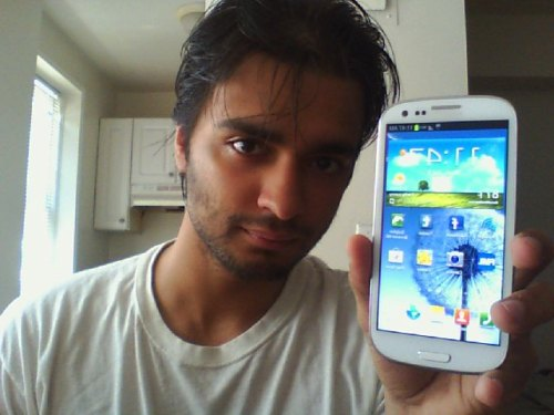 I'm so happy with my new phone, the Galaxy S III is gorgeous and lightning fast and super comfortable to hold and beautiful to look at and the battery life is amazing and the photo quality from the phone's camera is beautiful I just really love this phone