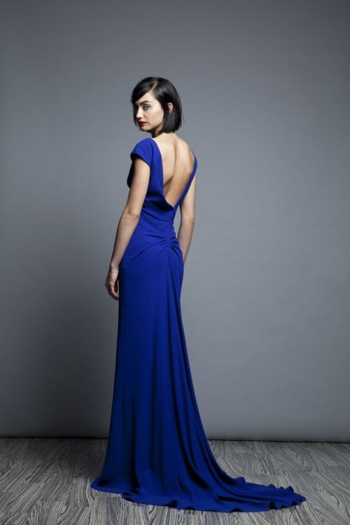 glamour:  Cobalt. Lela Rose, resort 2013.