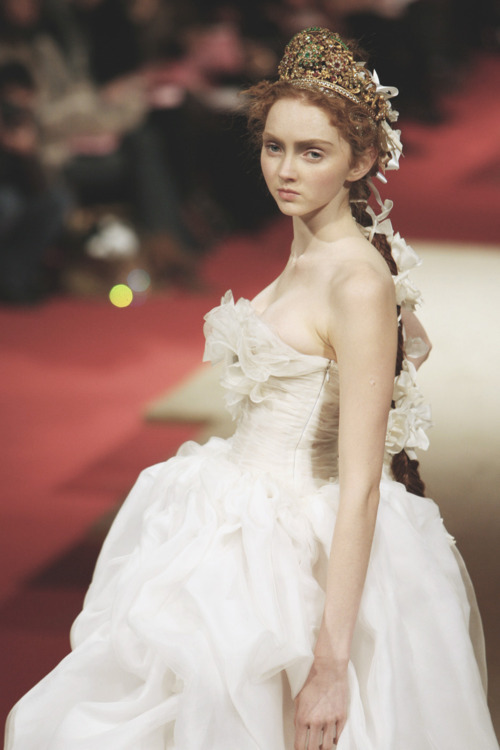 kawaiih0re:  Lily Cole Christian Lacroix Haute Couture s/s 2006