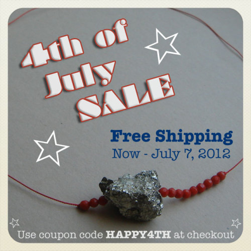 Hi Tumblrverse friends,  I'm offering free shipping now through Saturday at Peachy Jean Boutique with the coupon code HAPPY4TH. Reblog or share with your friends and family so they won't miss out on this sweet summer deal! One week only-take advantage now!