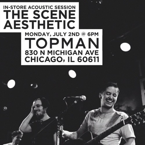 Chicago! We are playing a completely 100% FREE in store acoustic session today at Topman in Chicago! Come out and party with us! :) (Taken with Instagram)