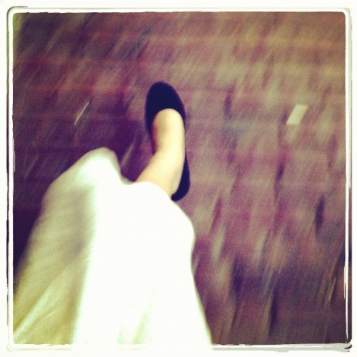 These pumps are made for walking :))))) (Taken with Instagram)