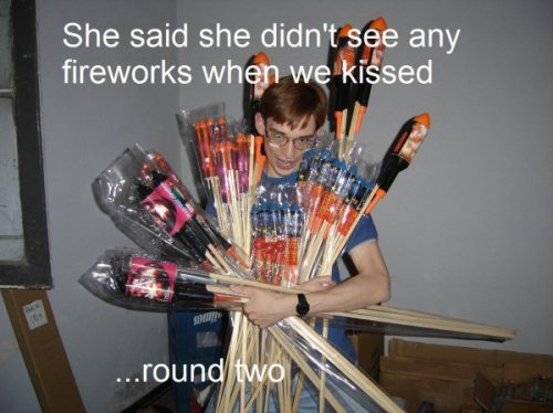 collegehumor:  Nerd Wants There to Be Fireworks If this doesn't work, I guess I'll have to show her my anime collection.