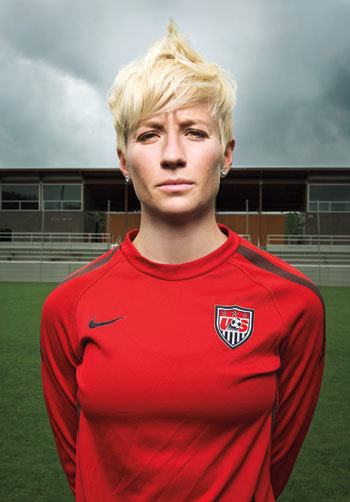 "thrace-:  Fever Pitch: As an out U.S. Olympic soccer player, Megan Rapinoe's got balls.  But Rapinoe has decided to pull off another landmark in women's soccer: to come out and publicly discuss her sexuality. ""I feel like sports in general are still homophobic, in the sense that not a lot of people are out,"" she says. ""I feel everyone is really craving [for] people to come out. People want — they need — to see that there are people like me playing soccer for the good ol' U.S. of A."" Not that Rapinoe has been hiding anything; it's just that no one ever asked her directly. ""I think they were trying to be respectful and that it's my job to say, 'I'm gay.' Which I am. For the record: I am gay,"" she says. In fact, Rapinoe's been dating her girlfriend, an Australian soccer player, for three years, and even brought her home to visit her family in Northern California last Christmas.   Real-life Alexus contender."