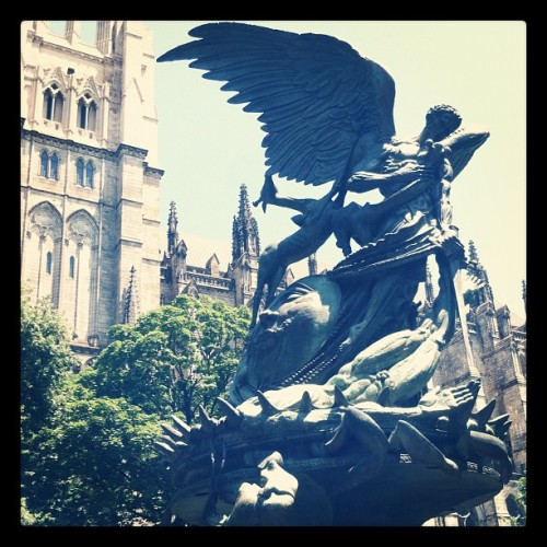 Just waked by one of my favorite statues  (Taken with Instagram)