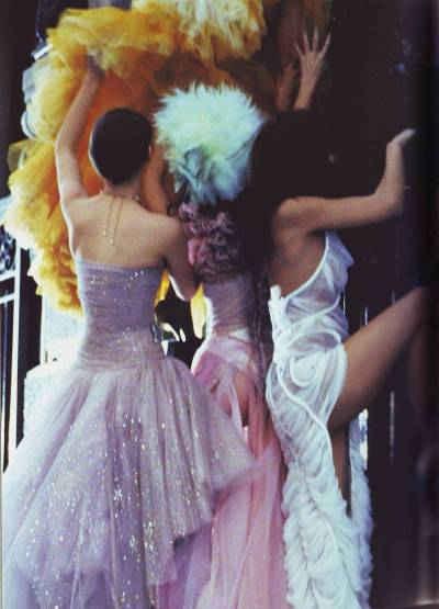 chanel, givenchy and christian lacroix haute couture s/s 2003, vogue russia april 2003