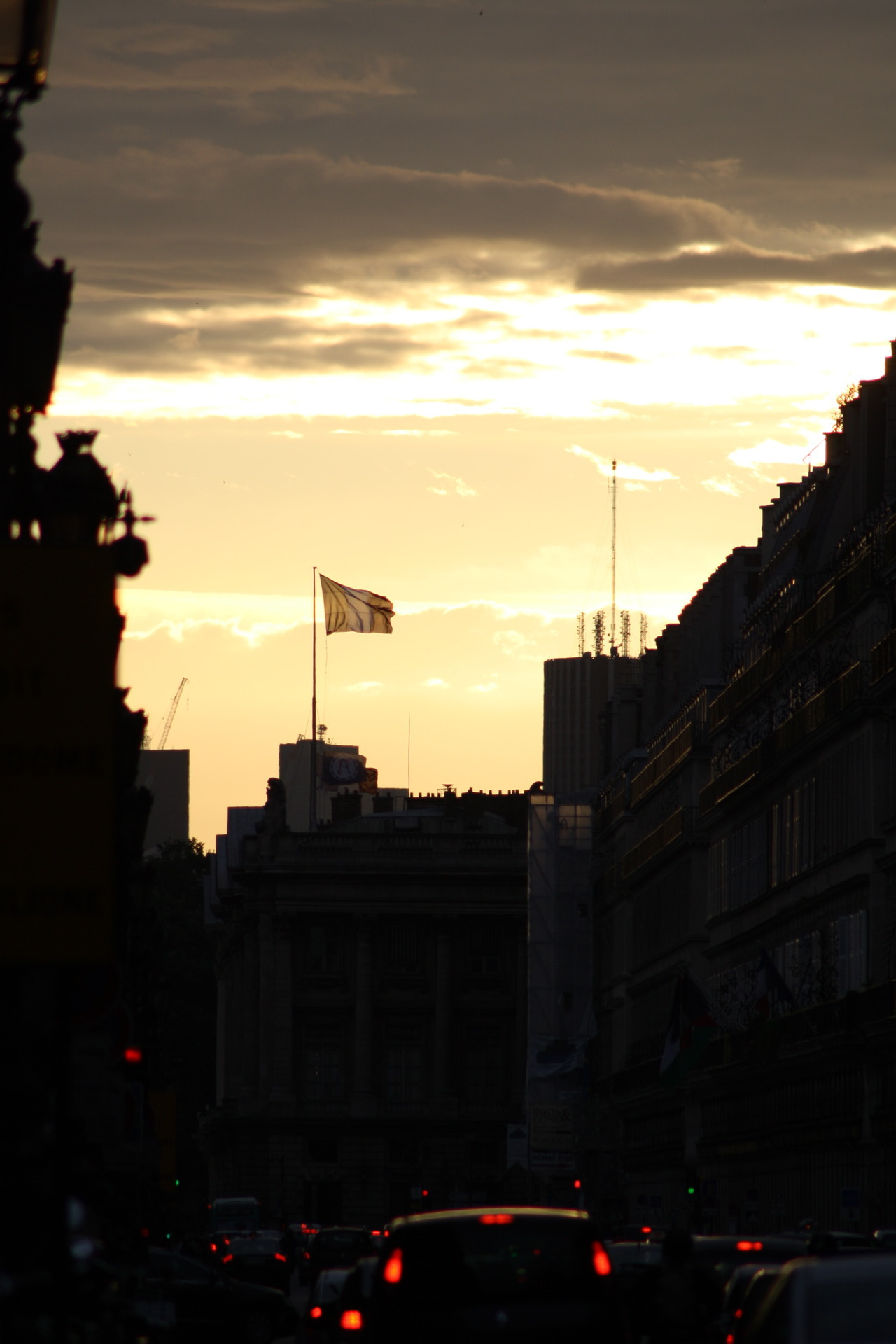 Sunset on Rue de Rivoli, 2012