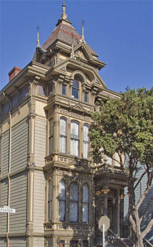 "The Hippie House This San Francisco Gothic Victorian style may have been one of the first 1960s ""Hippie"" communes according to the book Electric Kool-Aid Acid Test. In that book, author Tom Wolfe described it: ""Up at Fulton and Scott is a great shambling old Gothic house, a freaking decayed giant, known as The Russian Embassy."" In 1967, underground filmmaker Kenneth Anger lived here, making a movie called Invocation of My Demon Brother, which starred Charles Manson family member Bobby Beausoleil and featured music by Mick Jagger. Despite what some ill-informed tour guides may say, Manson himself did not live here."