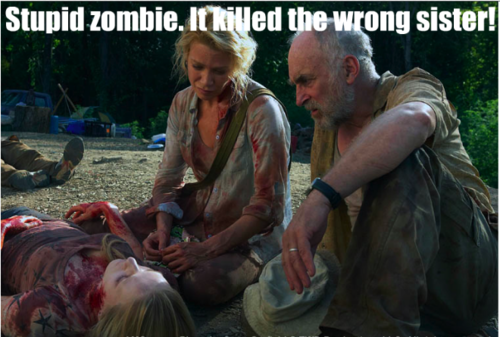 Stupid zombie. Andrea's okay, though. Usually.