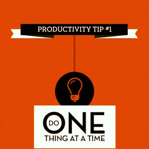 productivemuslim:  #productivity #tip #singletask #focus (Taken with Instagram)