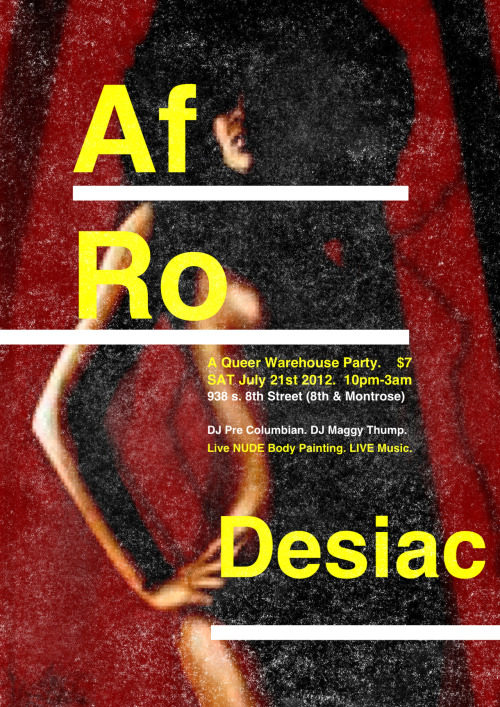 WE ARE AT IT AGAIN!!!!! Come join us at Afrodesiac for a night of dancing, drinks, art, and beautiful queer brown souls!!!
