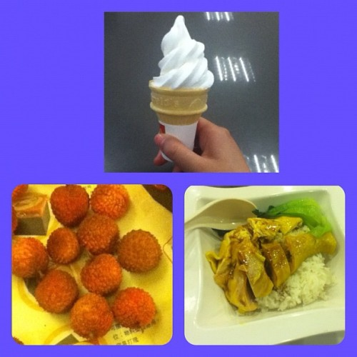 #ice#cream#cone,#lichee#chicken#rice#hongkong#food#yummy#veggies (Taken with Instagram)