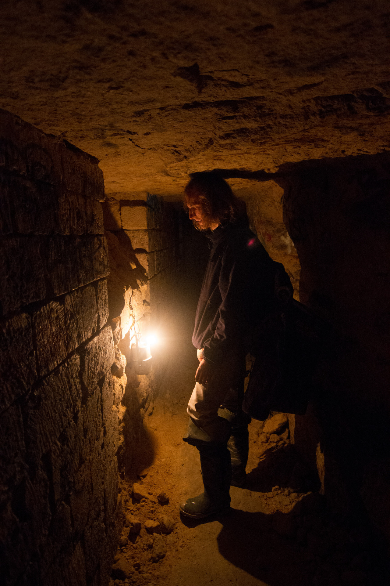Editing some photos from my trip….here's a peek into the Parisian Catacombs.