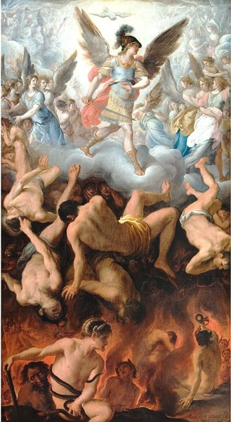 Eugenio Cajés The Fall of the Angels (1605) Statens Museum for Kunst, Copenhagen