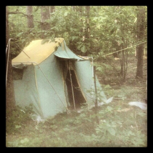 Camping in the family forest (Taken with Instagram at Hideaway Resort on Sugar Lake)