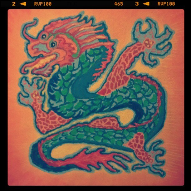 New artwork up at the @iconcollective #studio #yearofthedragon #art #paint #fb #music #life #love #follow (Taken with Instagram at Icon Collective)