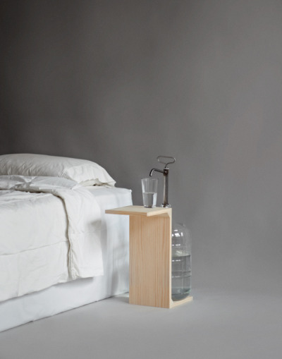whereisthecoool:  Water Jug Nightstand