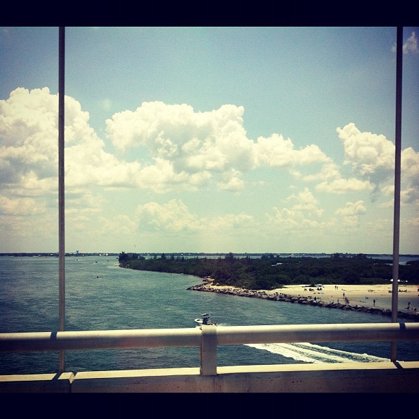 The inlet was gorgeous today :) #florida #inlet #ocean #summer (Taken with Instagram)