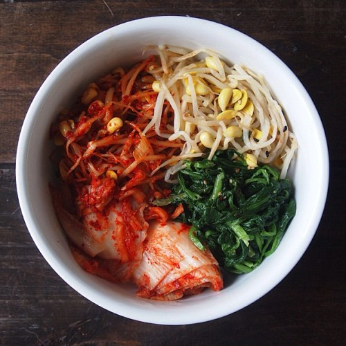 a medley of my favorite #korean sides. #pretty #colors #food #foodie #foodporn #foodpics #sharefood #nofilter (Taken with Instagram)