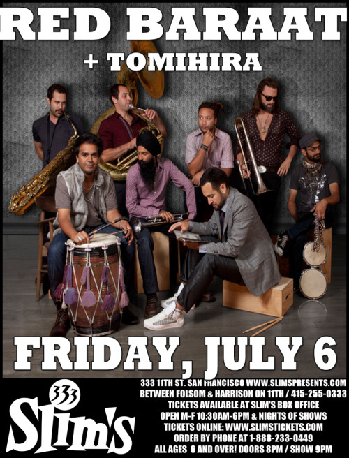ravingpsycho:  Tomihira show on Friday, July 6 at Slims! (http://www.slimspresents.com/) Facebook event: http://www.facebook.com/events/307961039299135/