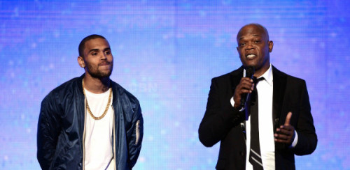 Chris Brown & Samuel L. Jackson Last Night