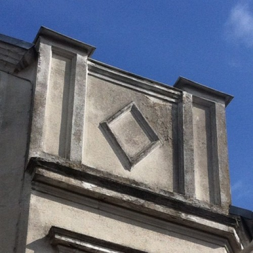Geometry on a building. Interesting thin about this one, the shape is the geometry you get within the vesica pisces (two circles overlapping at centre). I wonder what purpose it serves, it any at all. I'm pretty sure it was made by Freemasons and they tend to have a purpose with their architecture. This is on a corner beaming out to the city street. Could this activate the human system somehow? To what extent do symbols have an ability to stimulate and unlock deeply unconscious aspects of out mind body an spirit? #whatsupwithese guys #symbol #architecture #mason #masonic #freemason #geometry #hidden #occult #esoteric #illuminati #killuminati #spirtual #pattern #philosophy #mystisism #sacredgeometry  (Taken with Instagram)