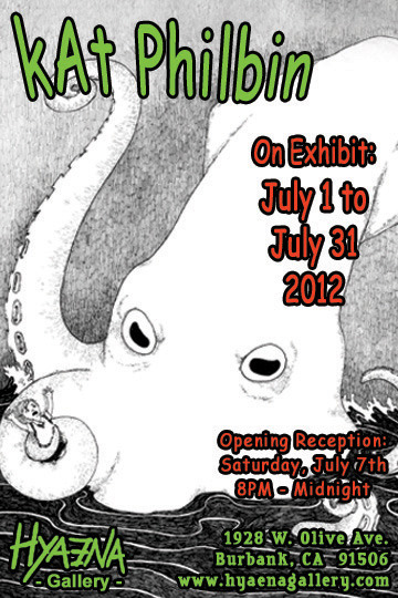 I'm having a show this month at Hyaena Gallery! Opening is this Saturday night.