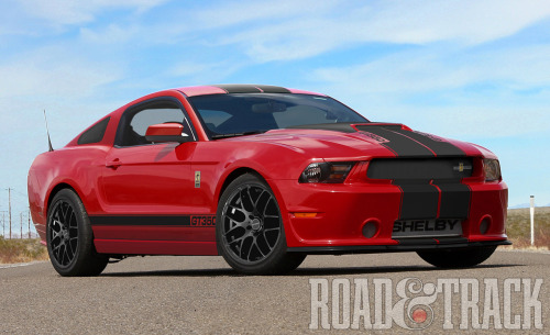 The 2013 Shelby GT350 will range from a 430-bhp natural aspirated version, to supercharged 525-bhp and tire-melting 624-bhp variants. Only 350 will be made. (Source: Road & Track)