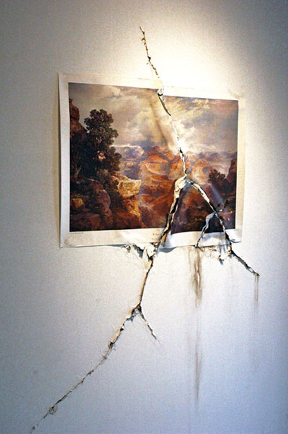 crematorie:  Valerie Hegarty Cracked Canyon with Flowers, 2009.