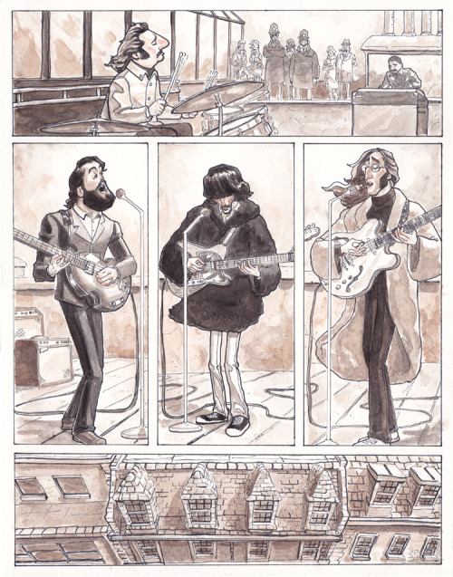 Don't Let Me Down The Beatles illustrated by Dave Au :: via artofau.blogspot.ca