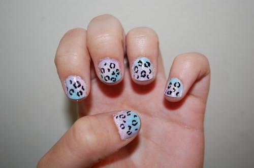 cheetah print nails on Tumblr