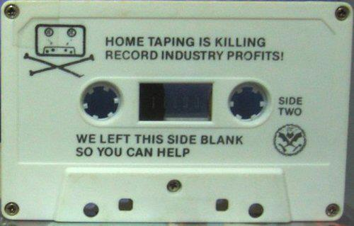 revolyeah:  Dead kennedys.  31 years ago.    napster aint got shit on the DKs